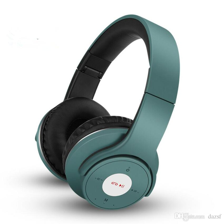 The new top-selling wireless foldable stereo bluetooth headset can be  plugged into music headphones for quick delivery