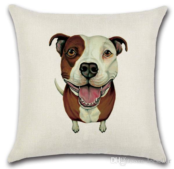 Niedlichen Schnauzer Pommerschen Hunde Kissenbezug 45 * 45 cm Originalität Baumwolle Leinen Dekorative Kissenbezüge Throw Pillow Kissen Platz 18 * 18 Zoll