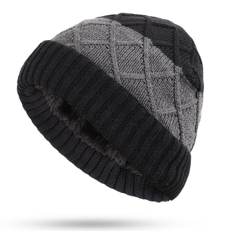 40e3662ab9c 2019 Hats For Men Beanies Knitted Bone Solid Color Cap Winter Women S Hat  Gorro Cap Korean Stitching Color Knitted Hat From Kuaigoubian