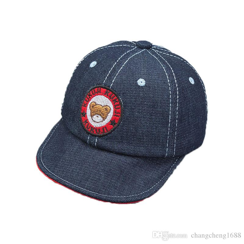 2019 2018 Spring New Unisex Child Baseball Cap Kid Baby Bear Design  Adjustable Soft Brim Denim Baseball Hat MZ5553 From Changcheng1688 663a3bdff25