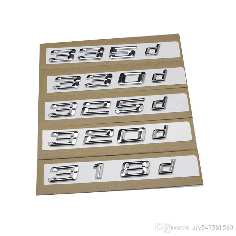 nouveau argent et noir 318d 320d 323d 325d 330d 335d 338d voiture coffre coffre emblème lettrage badges logo pour BMW série 3 F30 F31 F34 E90