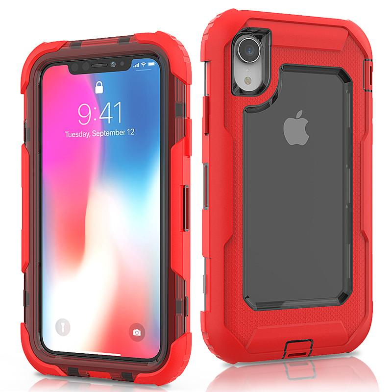 info for cc065 39bc8 For Iphone XR Defender Case 3in1 High Impact Heavy Duty Hard Rugged Rubber  Cover with Clip for iphone XR XS Max 8 8plus