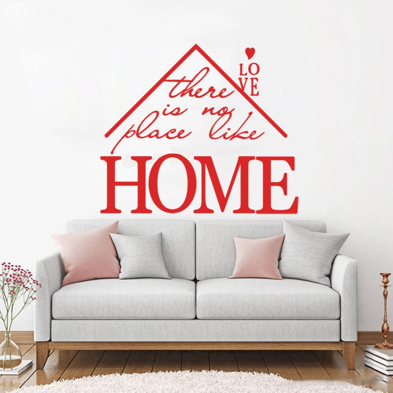 art wall decal creative quotes there is no place like home vinyl