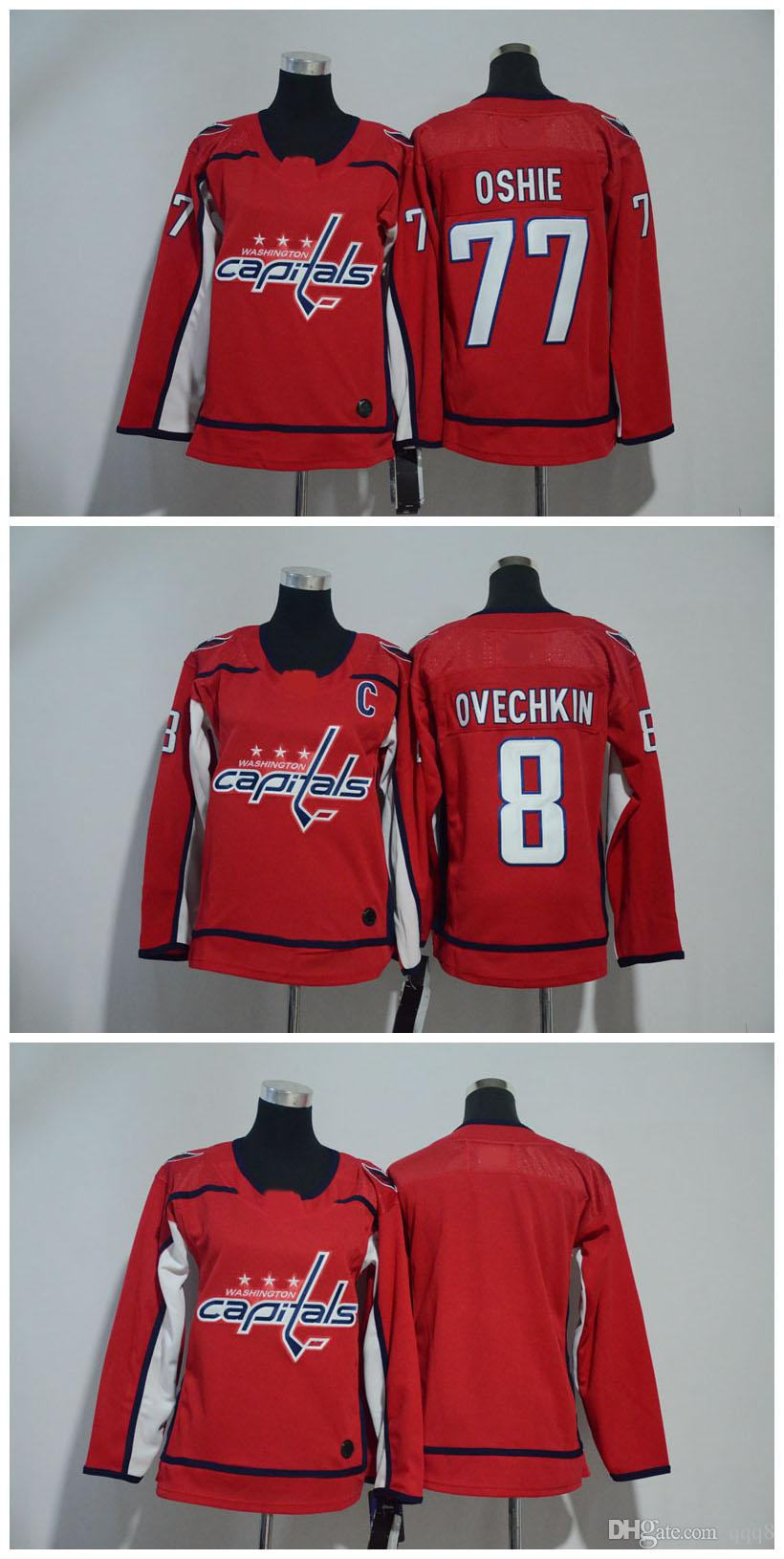 93bb5a4bee1 2019 2018 AD Women Washington Capitals Jersey Cheap 8 Alex Ovechkin 77 TJ  Oshie 70 Braden Holtby Blank Red Stitched Ladies Hockey Jerseys From Qqq8