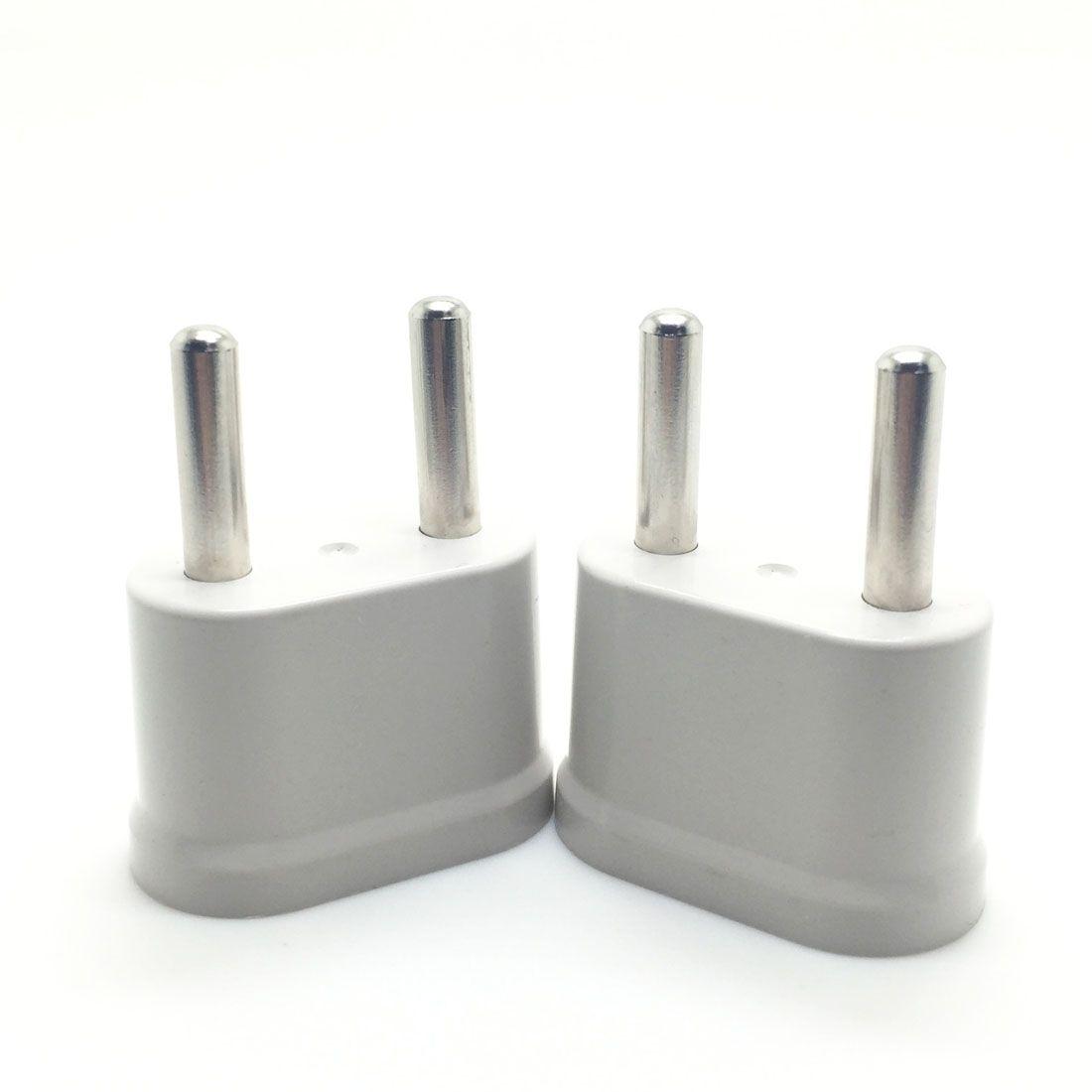 MAIF Good Sale 2pcs US USA to EU EURO Europe Travel Power Plug Adapter  Charger Converter for USA converter White