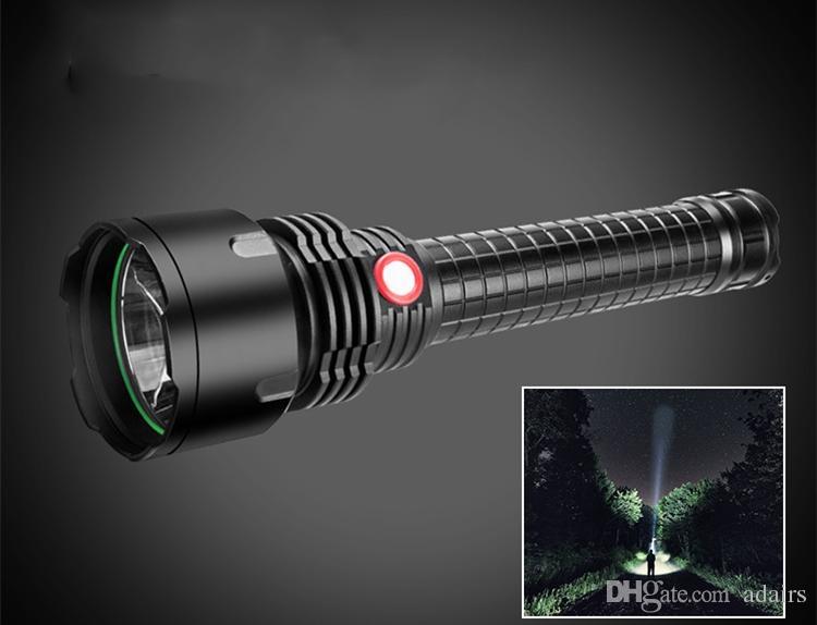 LED ışık USB şarj edilebilir uzun menzilli L2 ampul multi-fonksiyonel kendini savunma acil avcılık açık sürme büyük fener