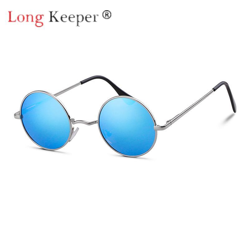 37dcb200700 Long Keeper Polarized Steampunk Round Sunglasses Women Rimless Sun ...