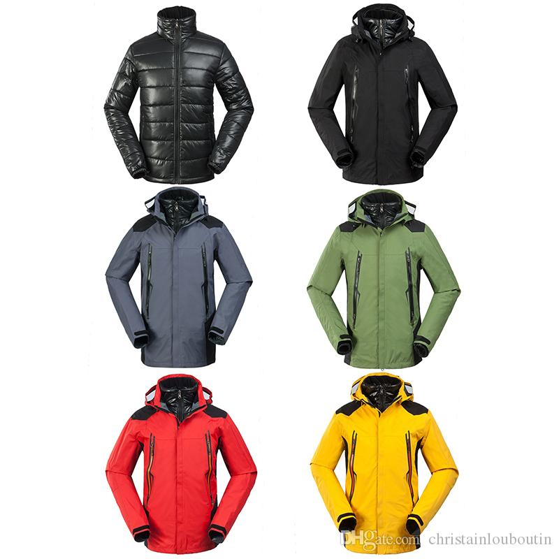 Face top quality Down north For Men Stand collar hooded 100% White Duck down Male Long jacket Plus size Women Man Clothes