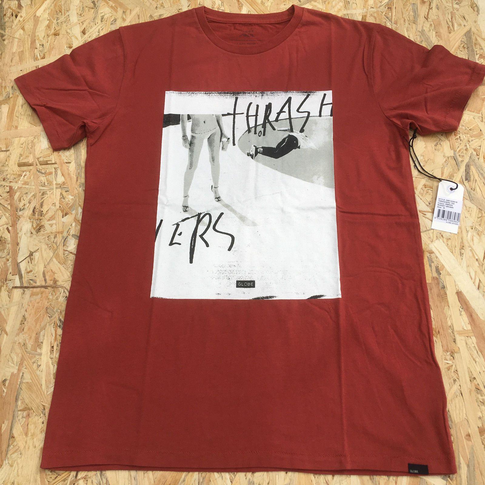 98c1553f9 Globe Brown 100% Cotton Print Men O Neck High Quality Hot Sell T Shirt Surf  Surfer Skate Skater Skateboard Street Wear Cool Shirt Designs T Shirt  Quotes ...