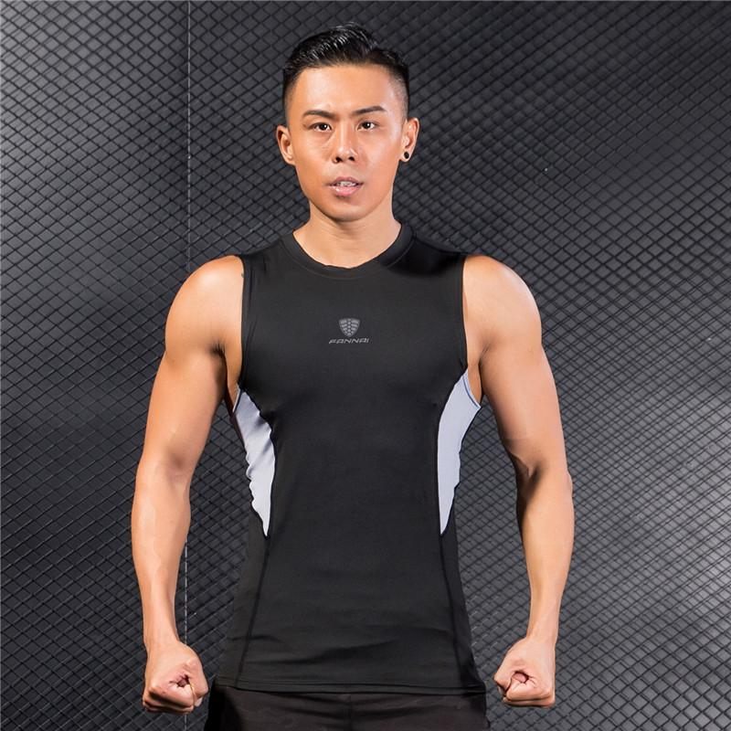 66a129f413475 2019 Quick Dry Men S Running Vest Shirts Black Patchwork Training Jersey Sleeveless  Workout Tank Top Fitness Tights Sport Gym Shirt From Pineappleg