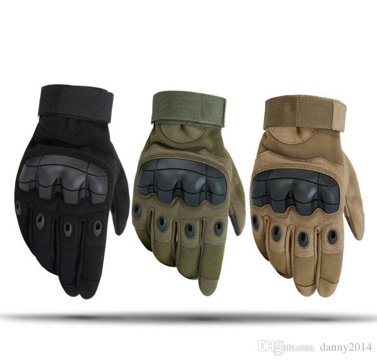 Blackhawk Tactical Gloves Sports Glove Leather Full Finger Gloves Hunting mittens Motorcycle bike Cycling Racing protective gloves