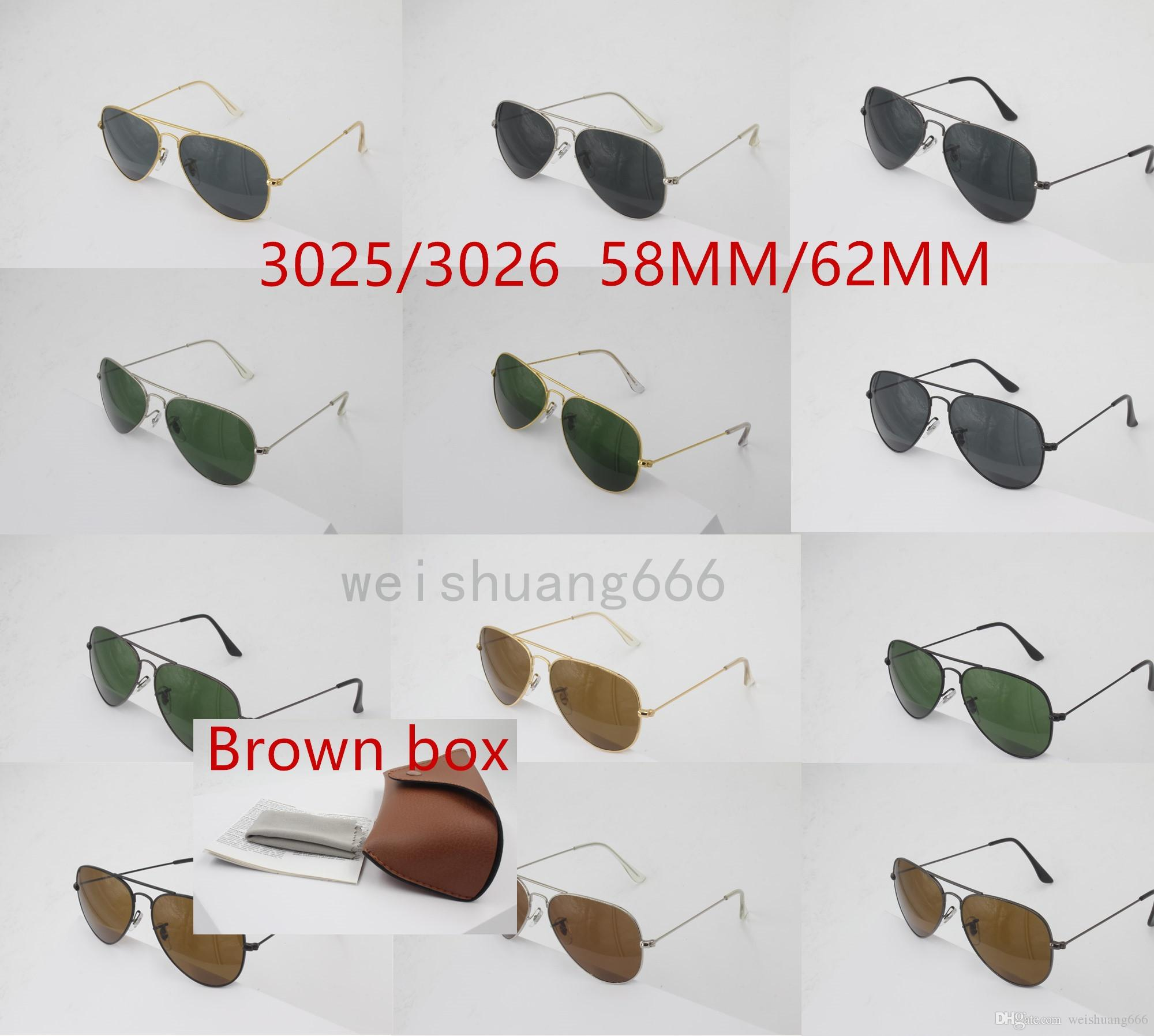 5a30c496ba 2018 Fashion Sunglasses 3025 Black Glasses Men And Women Luxury Stainless Steel  Frame Glass Lens Retro Sunglasses UV400 Online with  7.79 Piece on ...