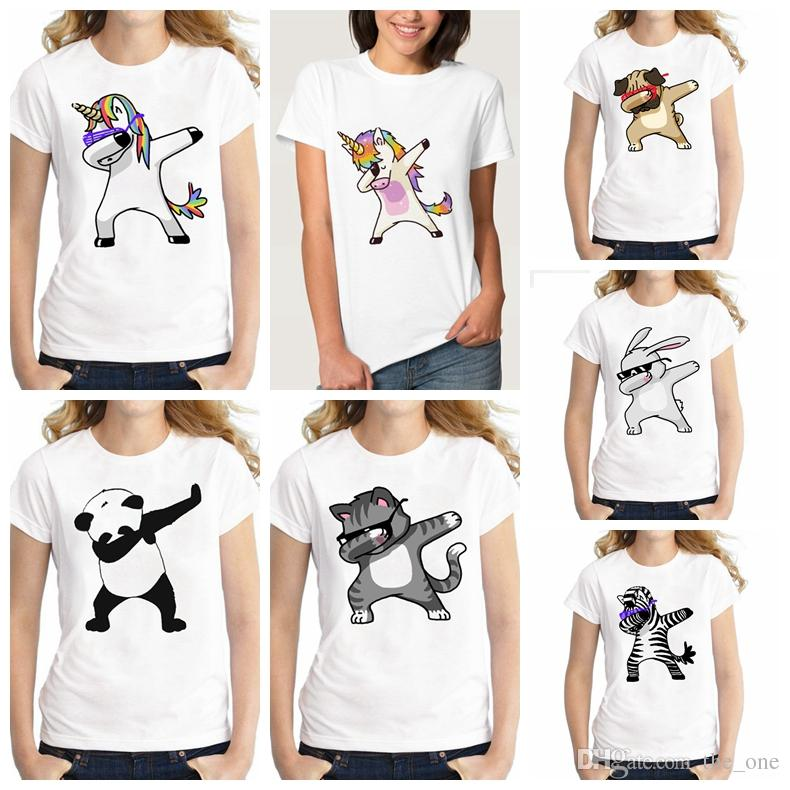 035949a0e7 2019 Summer Unicorn Cartoon Funny T Shirts Kids Summer Tops Girls Boys  Short Sleeve T Shirt Rabbit Cat Baby Clothes From The one