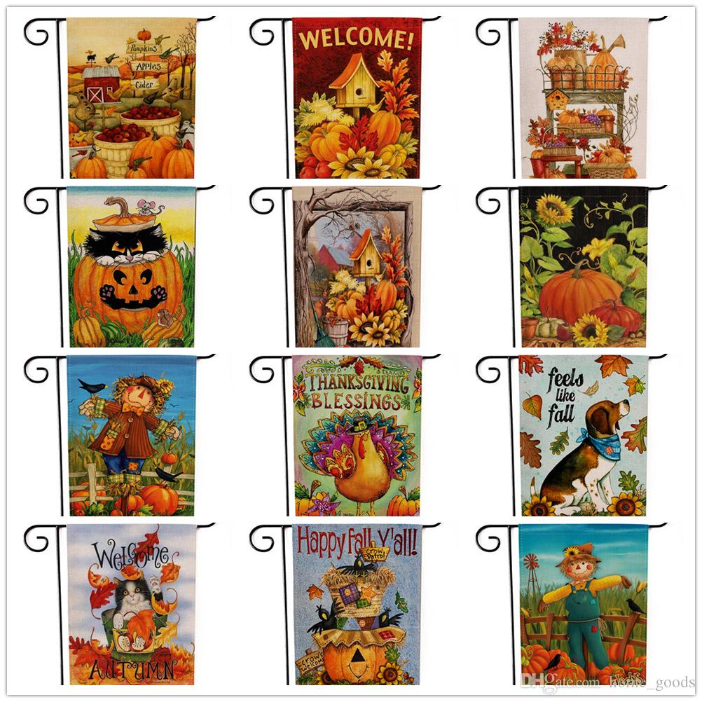 halloween thanksgiving decorations garden flag pumpkin flags hanging