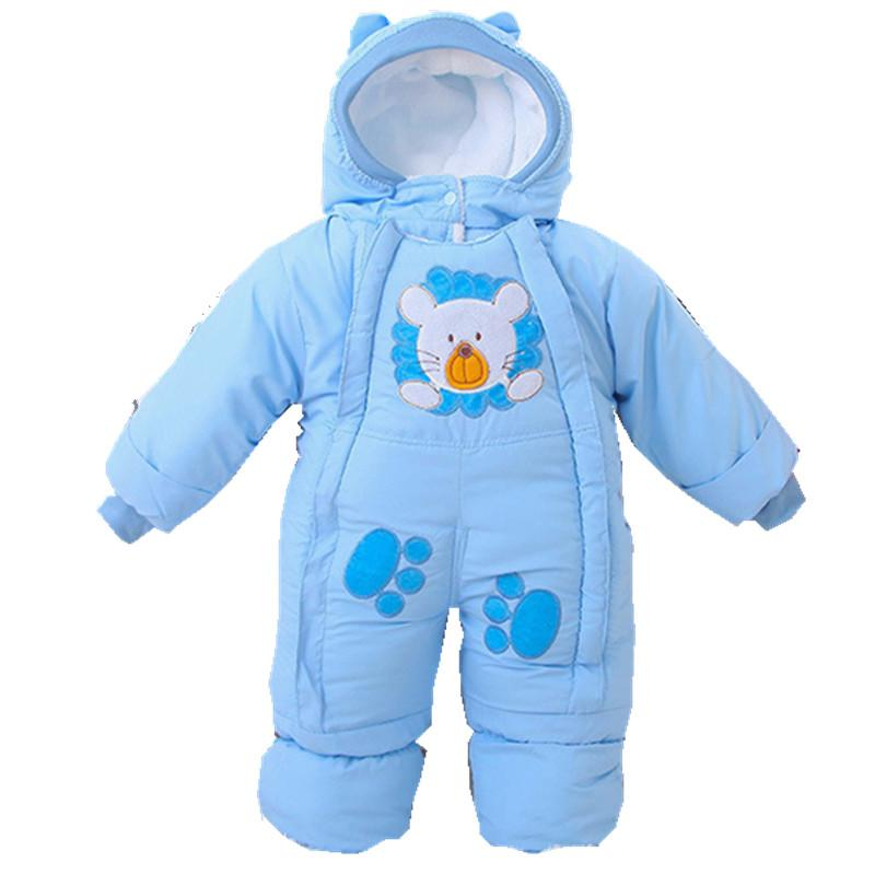44c81a589cee4 2016 Autumn Winter newborn baby thick rompers children wadded jacket kids  warm cotton-padded fleece animal jumpsuits overalls