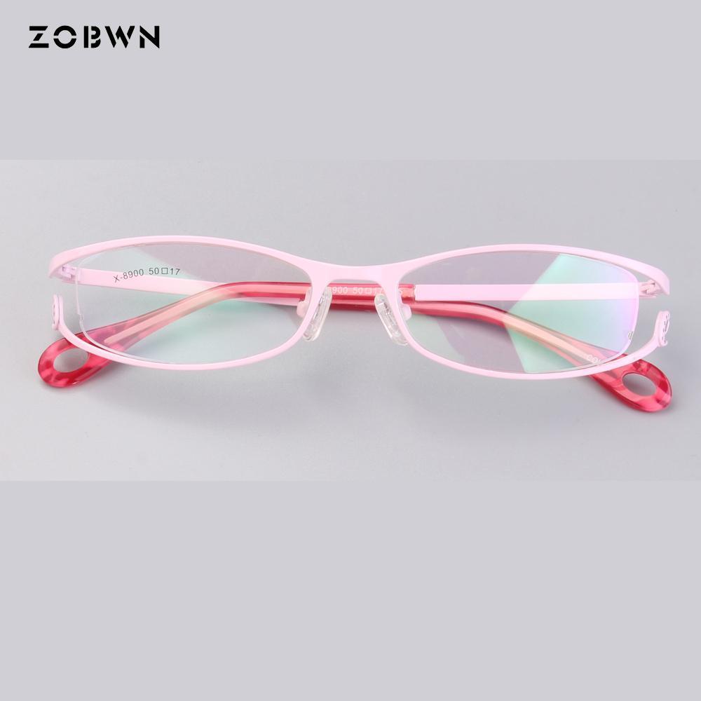 32ef7daa59 2019 Fake Full Frames Ladies Optics Eyeglasses Women Clear Glasses Men  Optical Metal Eye Glasses Frame Red White For Prescription Eye From  Shuidianba