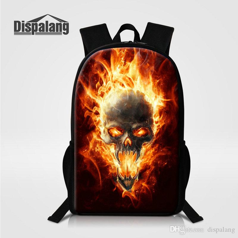 80836528b60c Skull Children Backpack Men S Travel Shoulder Bags Punk Printing School Bags  Bagpacks Rucksack Mochila Masculina Primary Bookbags Sac A Dos Backpacks  For ...