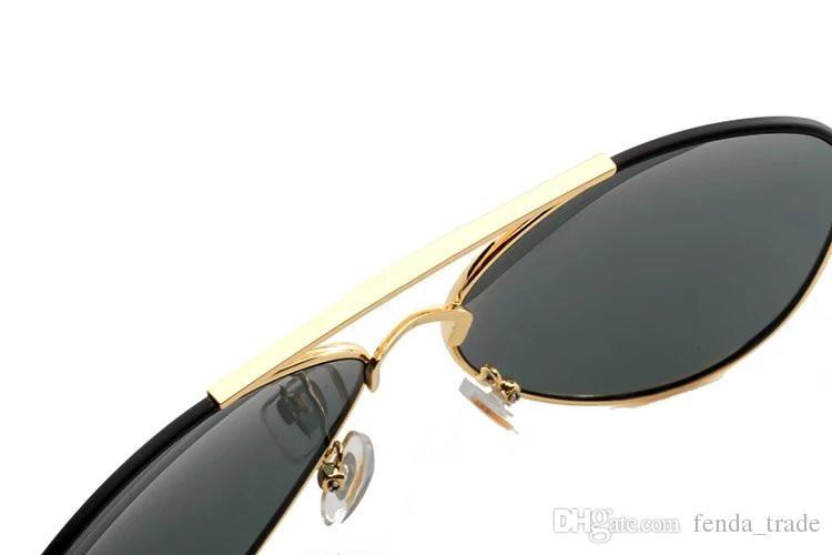 2018 Yeni Lüks Güneş Gözlüğü 4271 Erkek Kadın Güneş Gözlüğü Altın Çerçeve Kare Metal Çerçeve Vintage Stil Büyük Çerçeve Klasik Model En Kaliteli