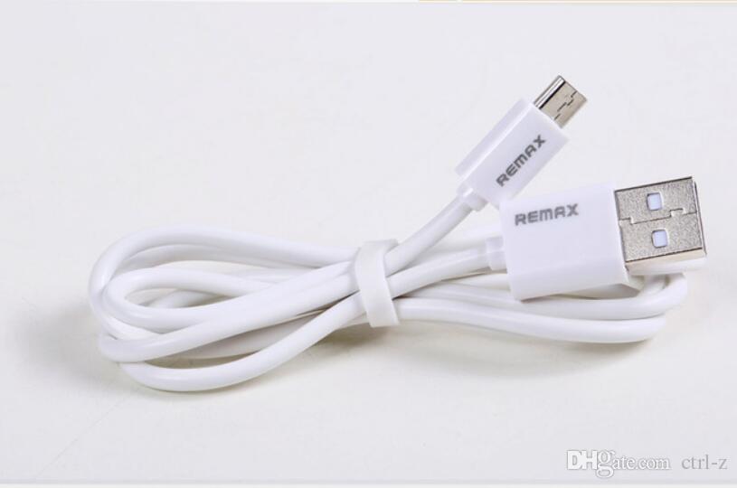 ريماكس مايكرو USB نوع ج موبايل كابل الهاتف كابل بيانات سريع شاحن لسامسونج HTC LG مع مربع للبيع بالتجزئة الأبيض