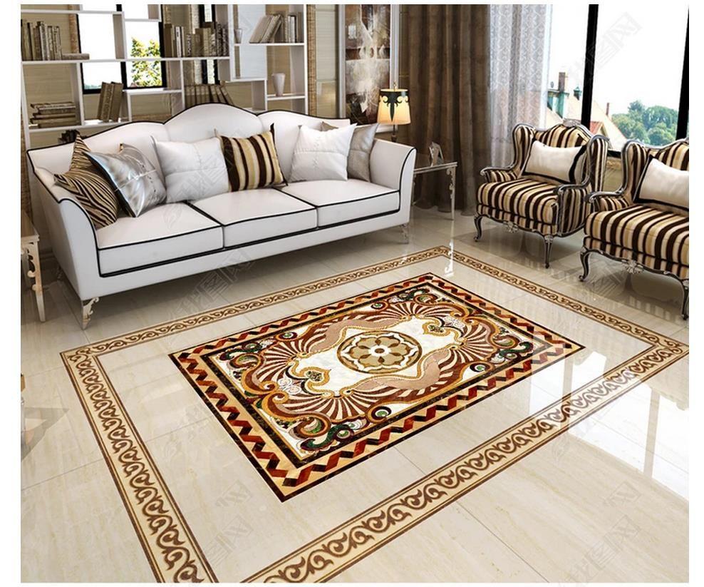 3D PVC-Bodenbelag Wasserdicht Selbstklebende 3D-Tapeten maßgeschneiderte Boden Malerei Tapeten Wandaufkleber Europäischen Parkett Fliesen