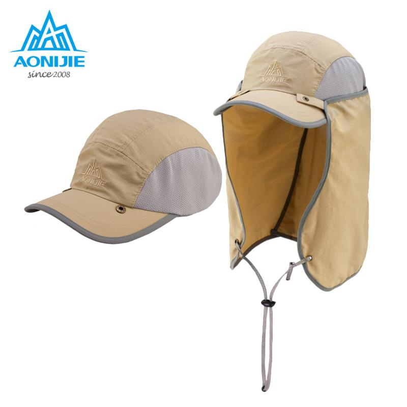 631b93c1471 2019 AONIJIE Sports Climbing Caps Men Cycling Running Fishing Hats Women  Sunshade Anti UV Hat Outdoor Travel Foldable Sun Caps Hat From Bdsports