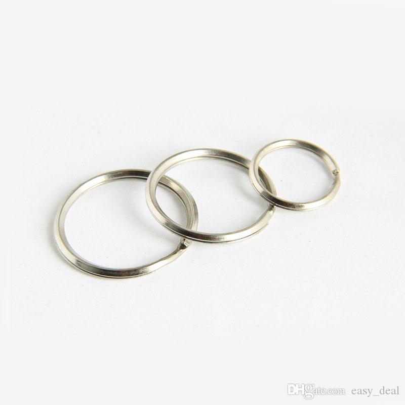 25mm 35mm 32mm Metal Key Holder Split Rings Unisex Keyring Keychain Keyfob Accessories QW7200