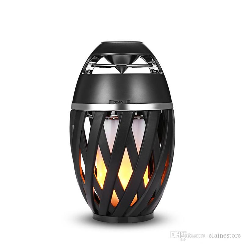 Potable A1 LED Flame Atmosphere Bluetooth Speaker Wireless Bluetooth Stereo Speaker Subwoofer For iphone X Samsung MP3 Free DHL