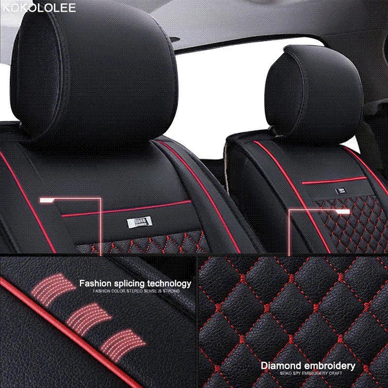 KOKOLOLEE Car Seat Covers Set For Lada Granta Renault Logan Peugeot 206 Geely Emgrand Ec7 Ssangyong Kyron Seats Protector Infant