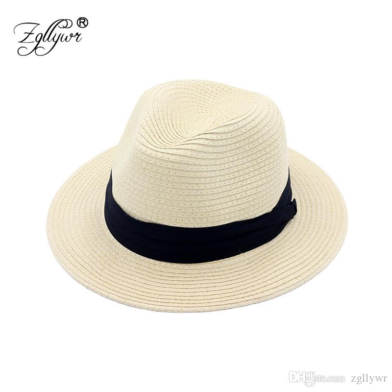 Zgllywr Straw Hat For Women Men Breathable Panama Style Summer Beach Folding  Bucket Sun Bowler Hat Boater Hat Fascinator Hats From Zgllywr 2d21eb527e5b