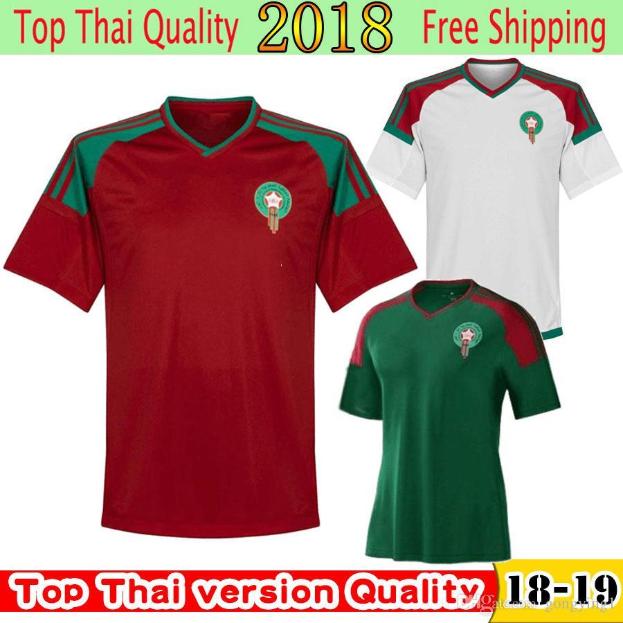 030b44e4d Compre 2018 Copa Do Mundo Marrocos Camisa De Futebol Para Adultos Nova  Chegada Tailândia Qualidade 5   BENATIA EL 8   AHMADI Maillot De Camisa De  Futebol De ...