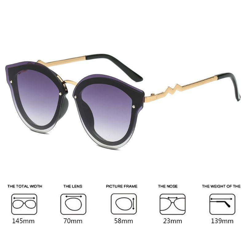 259d17d85b Retro Style Frameless Cat Eye Sunglasses Polarized Eyewear Cateye ...
