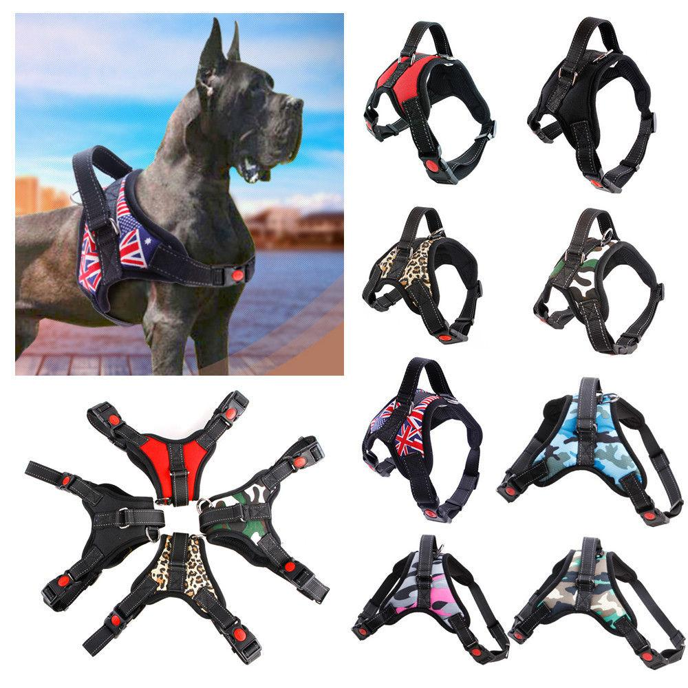 Pet Dog Vest Harness Leash Collar Set No Pull Adjustable Small Medium Large XL FFA285 11colors 30pcs