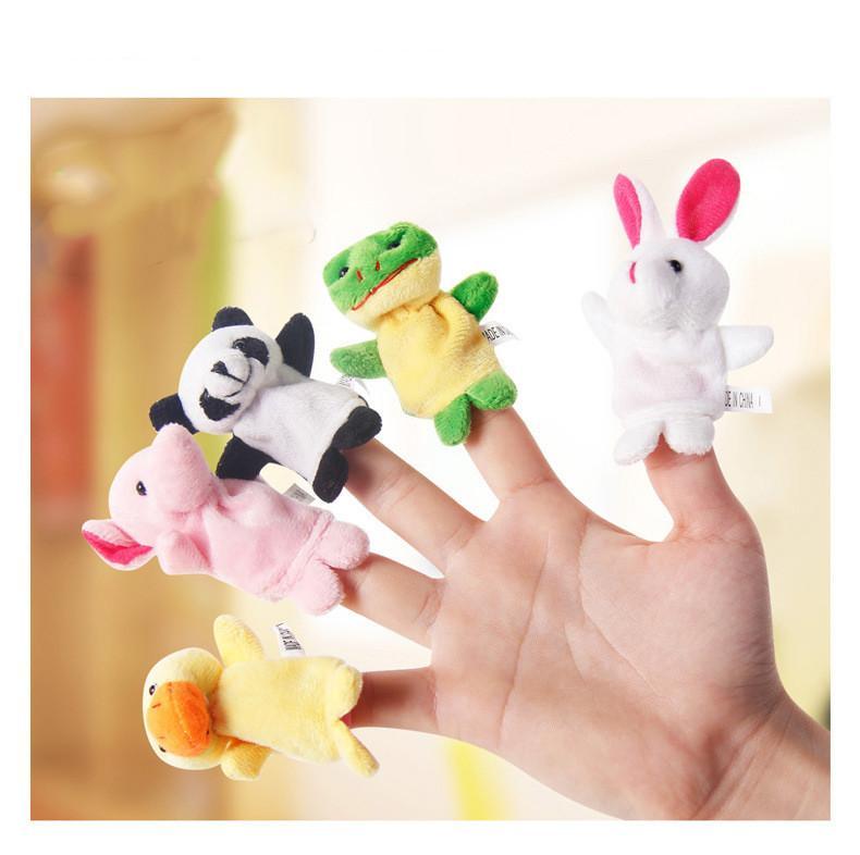 Cartoon Animal Velvet Finger Puppet Finger Toy Finger Doll Baby Cloth Educational Hand Story Baby Toy