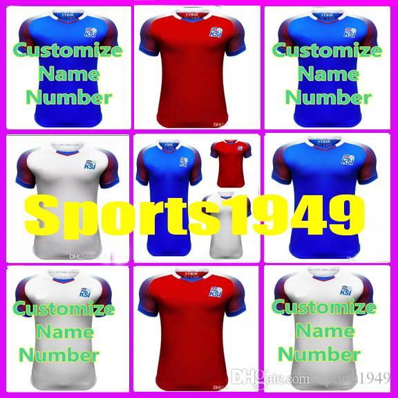 b455f77eb 2019 Rugby 2018 2019 Jerseys Iceland SIGURDSSON SIGTHORSSON 17 18 Home Away  Jersey 10 Or More Free To Send DHL From Sports1949