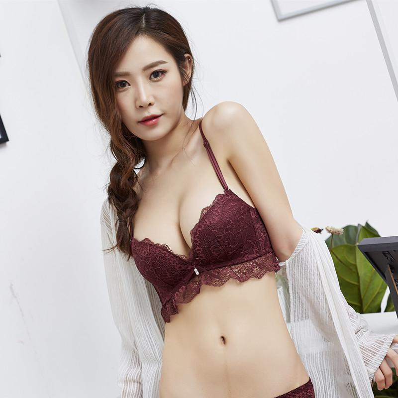 6c3886a4cb Sexy Comfortable Lace Push Up Women Bras Wire Free Fashion Underwear Bra  For Solid Embroidery Women Brassiere Lady s Bra Bras Cheap Bras Sexy  Comfortable ...