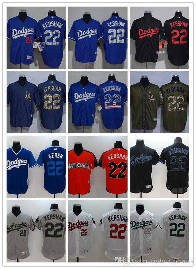 3595a2141 Custom Men Women Youth Majestic Los Angeles Dodgers  22 Clayton Kershaw  Home Blue Grey White Kids Girls Baseball Jerseys Los Angeles Dodgers Jersey  Clayton ...