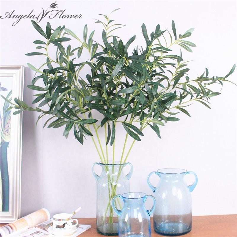 Großhandel 2 Typ Einzel Zweig Oliven Künstliche Blatt Simulation ...