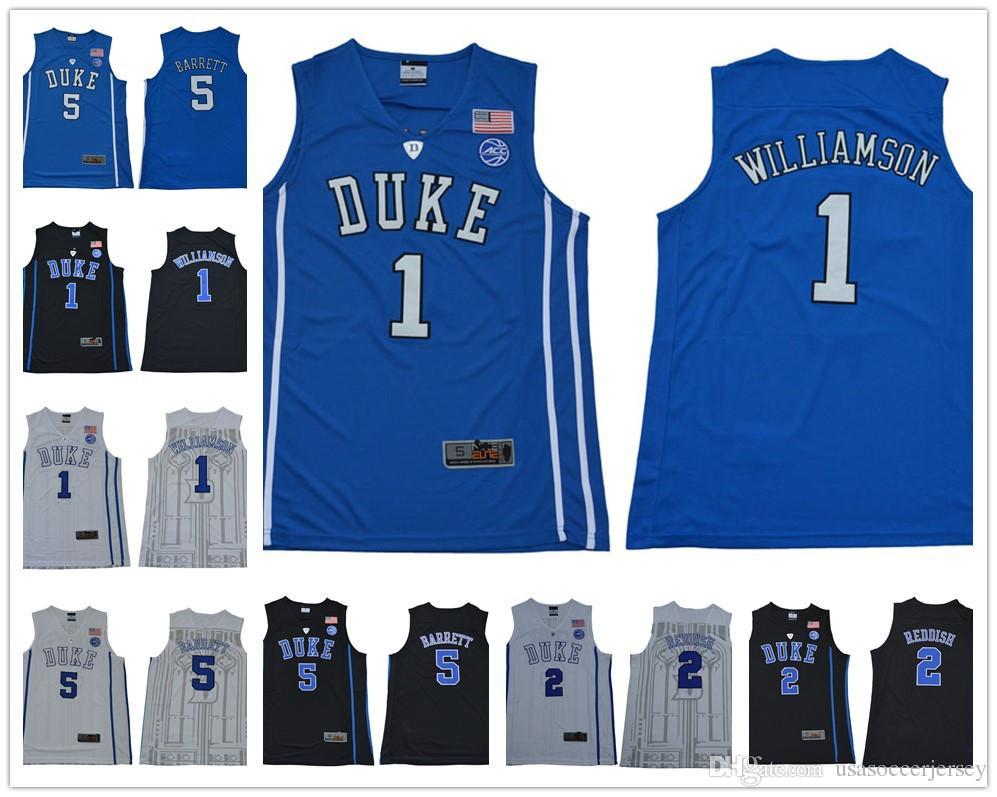 7bed02cba62 ... stitched 256f7 68bea  buy ncaa college duke blue devils 1 zion  williamson 5 rj barrett jersey 2 cameron reddish