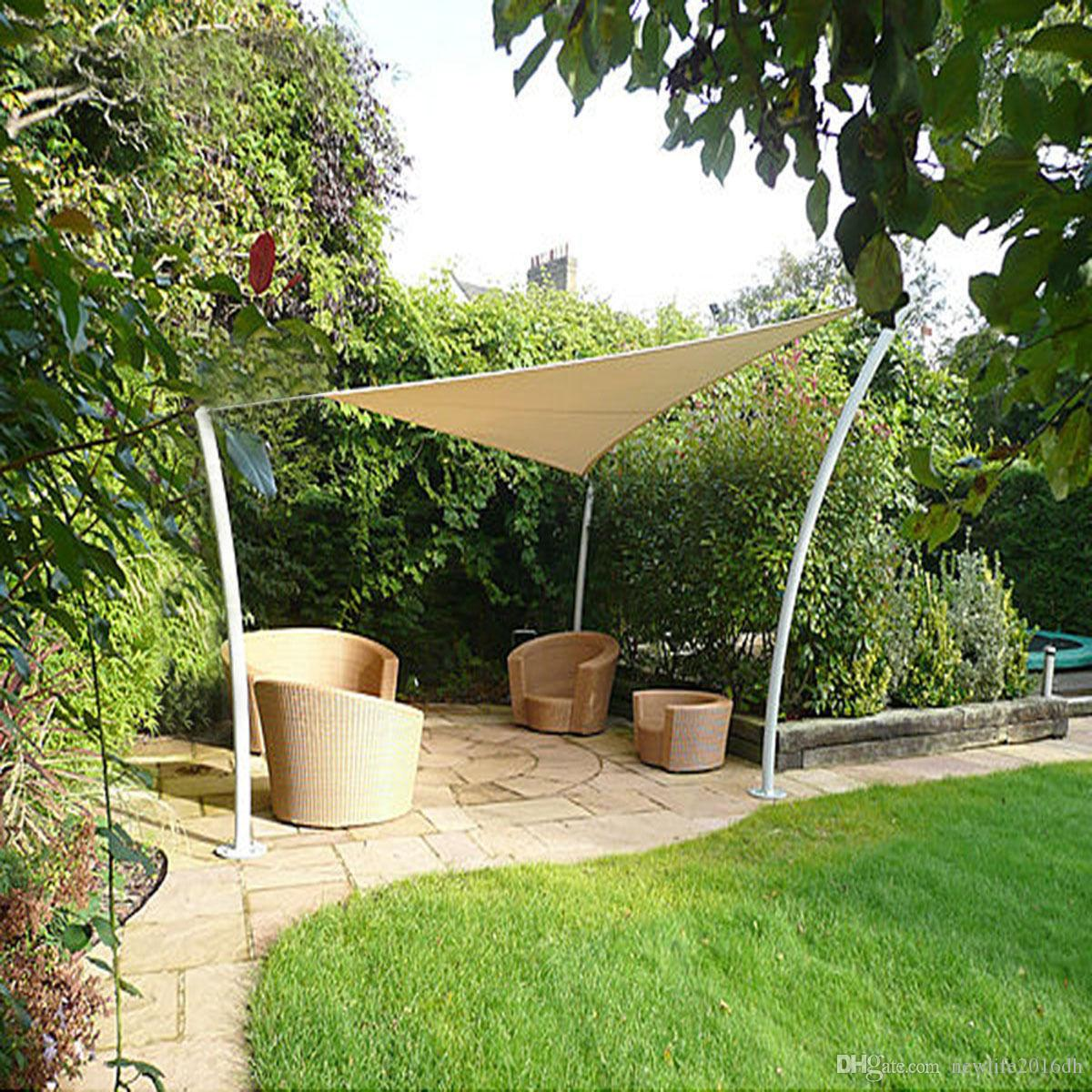 11 8 Triangle Sun Shade Sail Uv Top Outdoor Canopy Patio Lawn Cover
