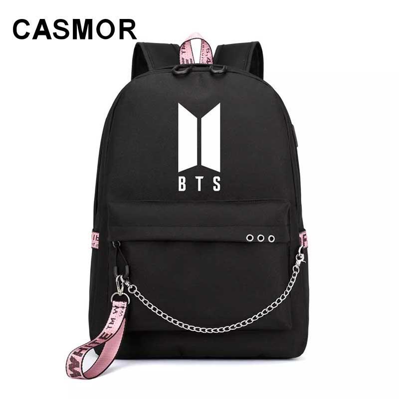 Teenager Backpacks Fashion Designer BTS School Bag Bangtan Boys Backpack  Large Capacity Travel Bag Teenager Girls School Best Backpack Designer  Backpacks ... c9afa082afaf7