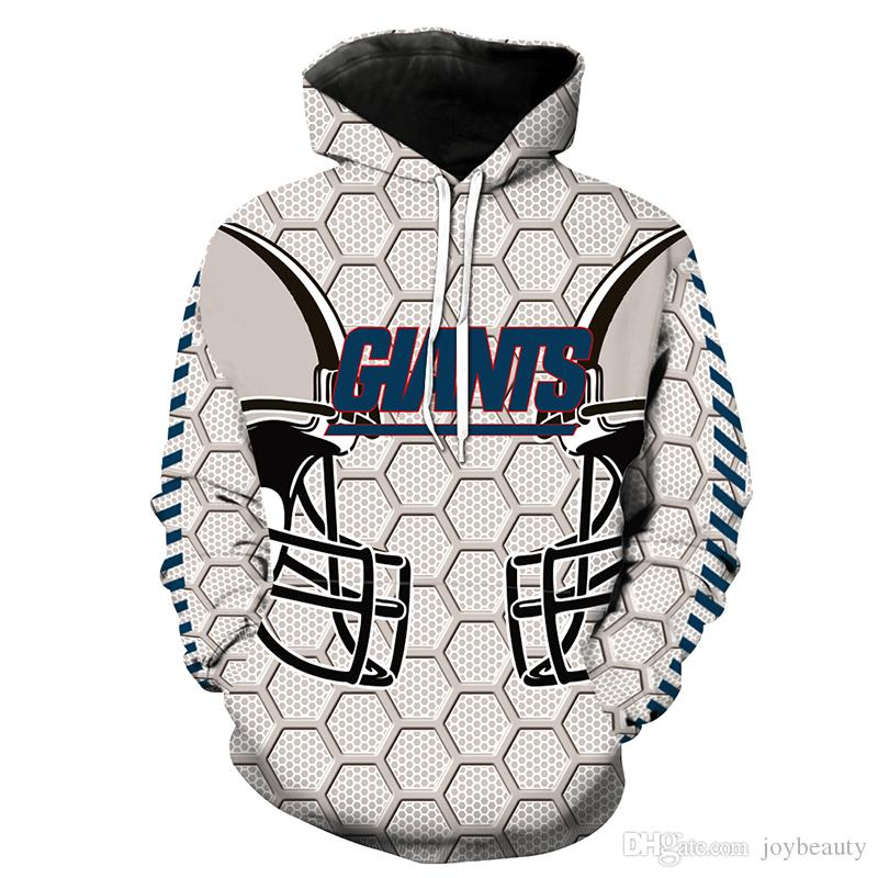 2019 Men Hoodie New York Giants 3D Full Print Man Hooded Sweatshirt  free shipping
