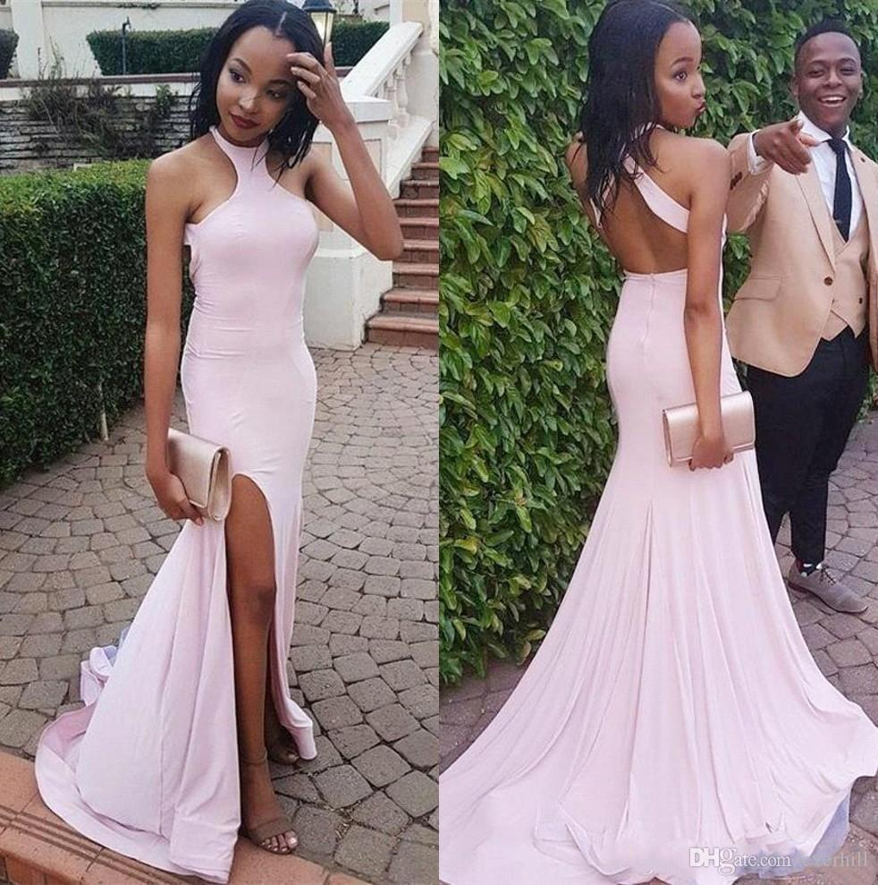 2018 Prom Dresses Mermaid Split Long Formal Party Evening Dresses ...