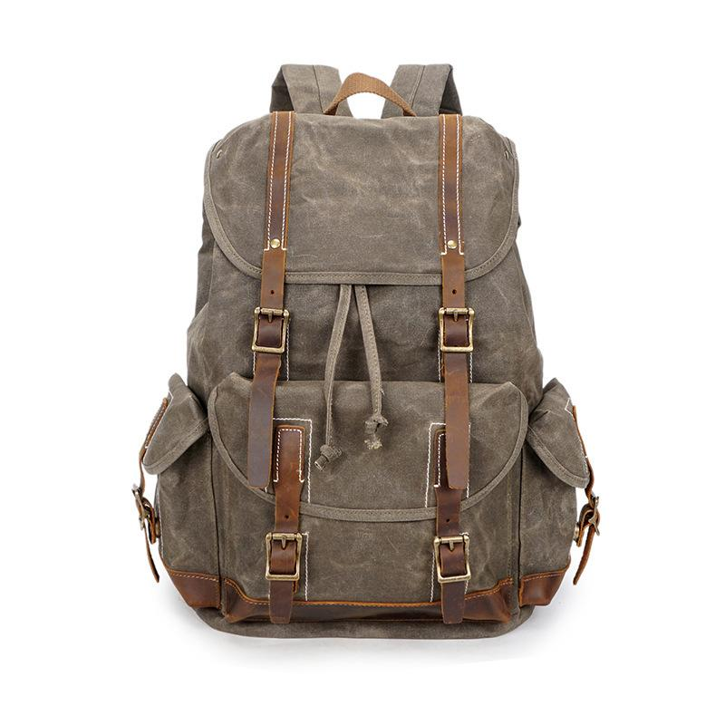 2019 Vintage Canvas Leather Backpack Hiking Daypacks Computers Laptop  Backpacks Unisex Casual Rucksack Satchel Bookbag Mountaineering Bag From  Fgfq 7425f7b97f8a1