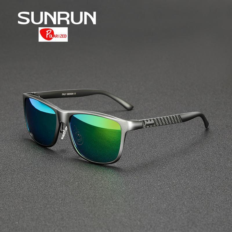 69e2e75178 Compre SUNRUN Aluminio Magnesio Hombres Gafas De Sol Polarizadas Espejo  Gafas De Sol Marca Diseño Hombre Conducir Gafas Gafas De Sol 8587 A $21.5  Del ...