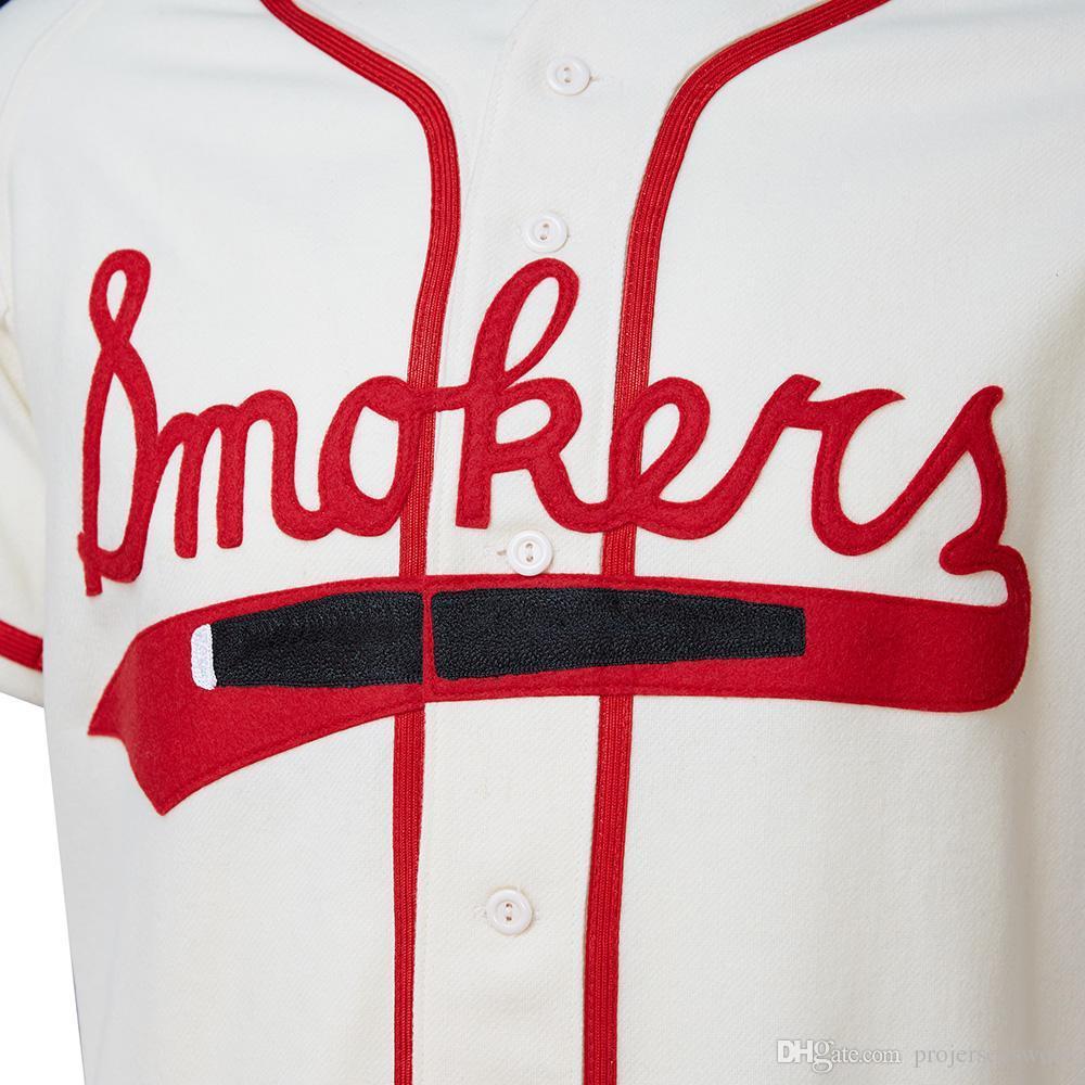 Tampa Smokers 1951 Home Jersey 100% bordado cosido Logos Vintage Baseball Jerseys Custom Cualquier nombre Cualquier número Envío gratis