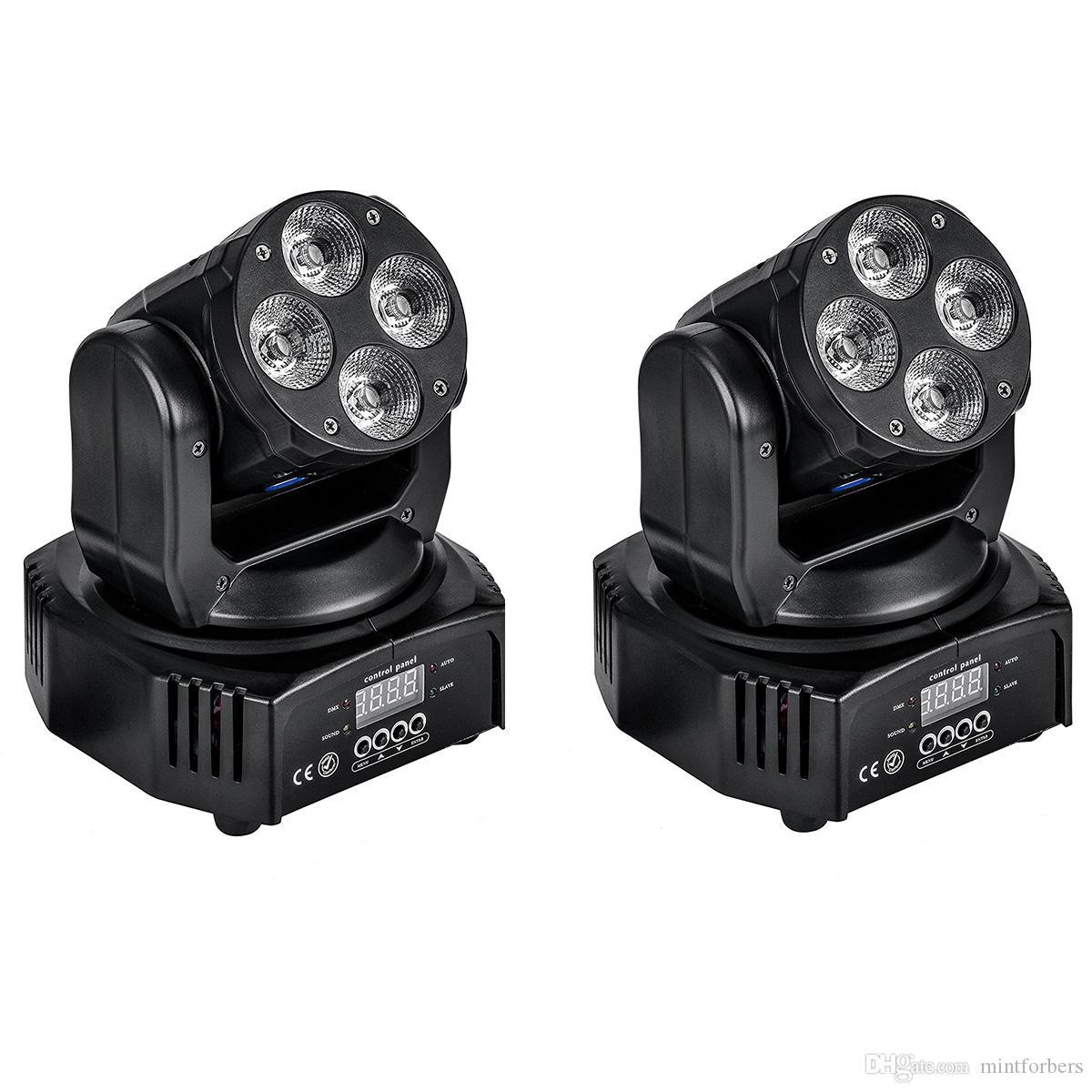 2018 4x10w Mini Led Moving Head Wash Light Dmx512 Rgbwa+Uv 6in1 For ...