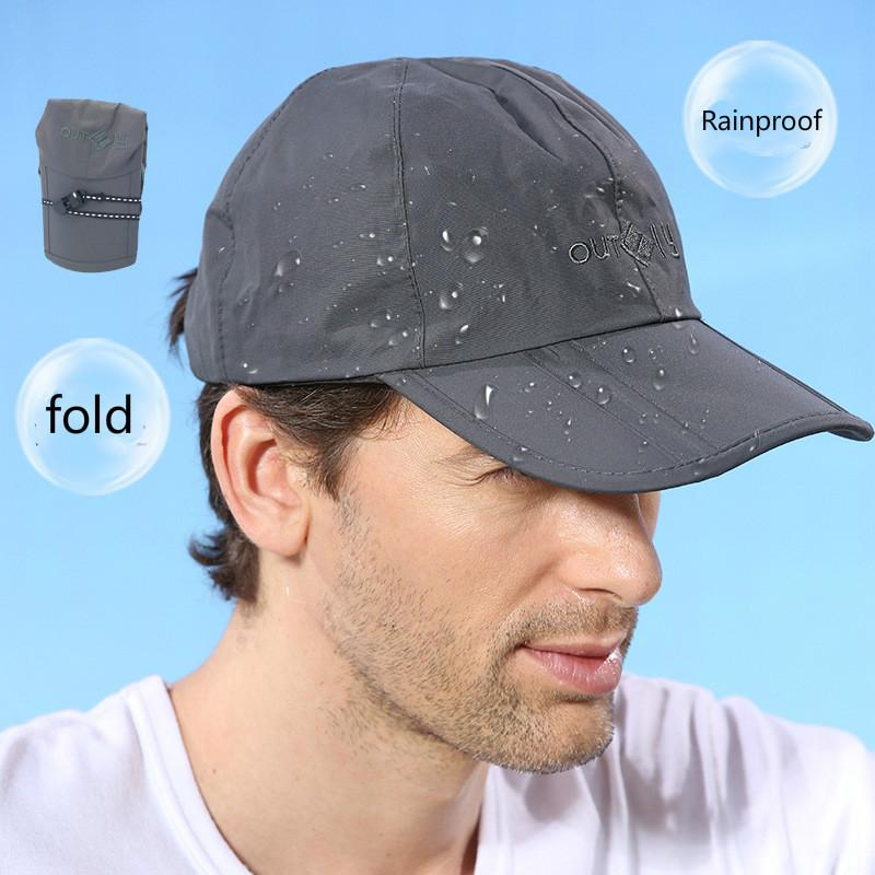 Waterproof Sunscreen Cap Outdoor Tourism Mountaineering Rain Collapsible  Sun Hat UV Male Ball Cap Caps Online Hats And Caps From Qq2018 32dd75b3257