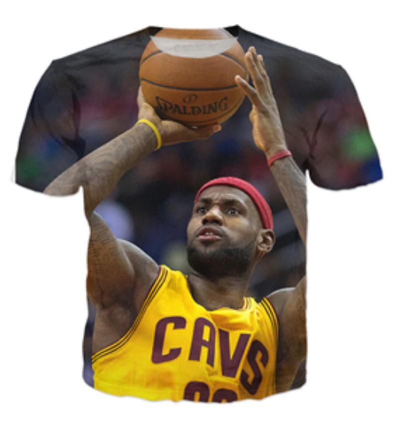 bfdbd17e92ec Summer New Fashion 3d T-shirt Star LeBron James Roaring Funny Print Men  Women T Shirts Ui0890018 3D Anime T Shirt T Shirt 3D T Shirt Online with ...