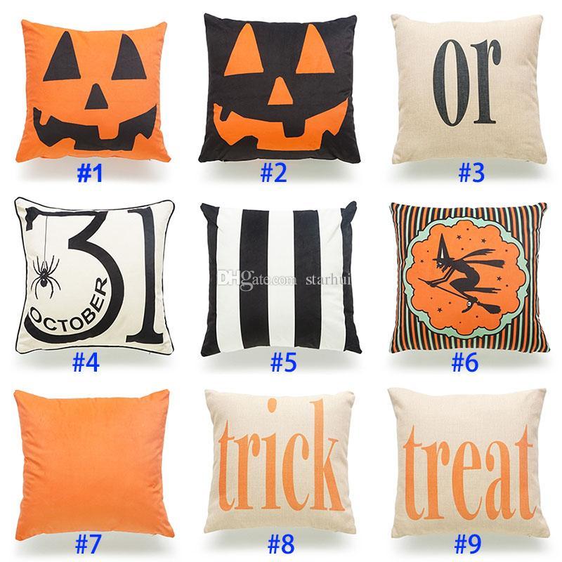 Halloween Pumpkin Pillow Case Christmas Pillowcase Letter Pillow