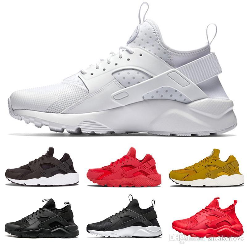 75316f5e1a23b Acheter Nike Air Max Huarache Shoes Ultra 4.0 Hurache Chaussures De Course  Air Sole Triple Blanc Noir Huraches Sports Huaraches Baskets Harache Hommes  ...